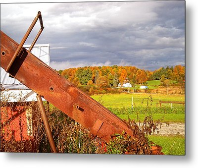 Fall On Bread And Butter Farm Metal Print