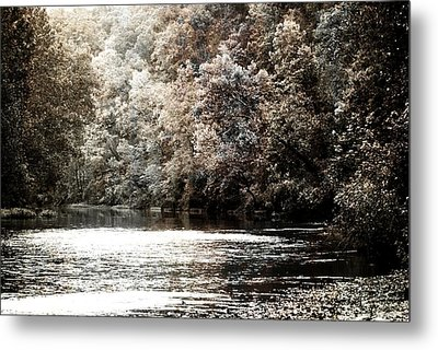 Fall On The Current Metal Print by Marty Koch
