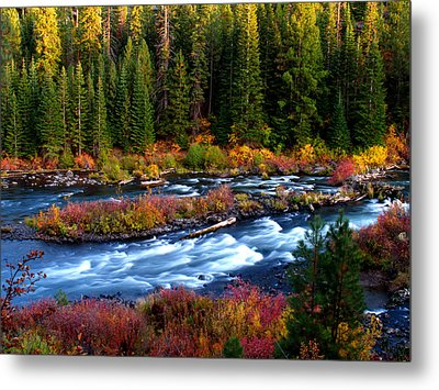 Metal Print featuring the photograph Fall On The Deschutes River by Kevin Desrosiers