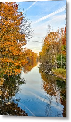 Metal Print featuring the photograph Fall On The Red Cedar  by Lars Lentz