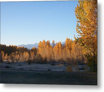 Fall On The River Metal Print by Jewel Hengen