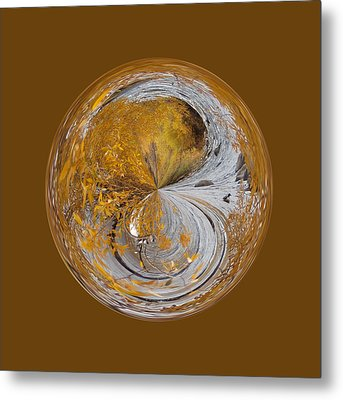 Fall Orb Metal Print
