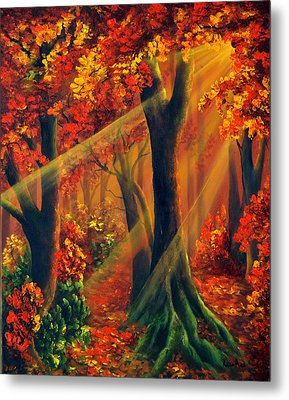 Fall Rays Metal Print by Katia Aho