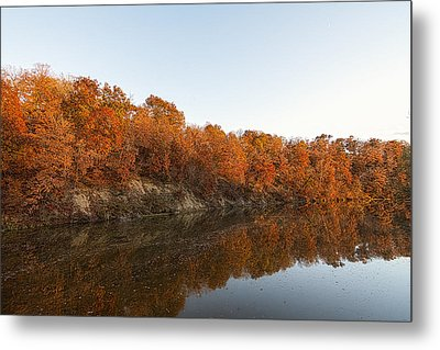 Fall Reflection Metal Print by Robin Williams