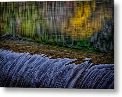 Fall Reflections At Tumwater Spillway Metal Print