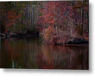 Fall Reflections Metal Print by Linda Unger