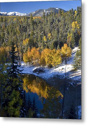 Fall Reflections On Bobcat Pass Metal Print