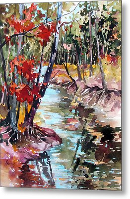 Fall Reflections Metal Print by Rae Andrews