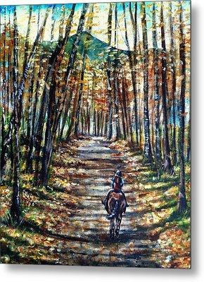 Fall Ride Metal Print by Shana Rowe Jackson