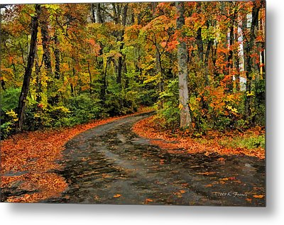 Metal Print featuring the photograph Fall Road To Glory by Kenny Francis