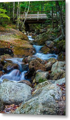 Metal Print featuring the photograph Fall Scene In Nh by Mike Ste Marie