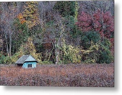 Fall Shed #1 Metal Print by Glenn Cuddihy