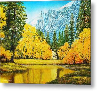 Fall Splendor In Yosemite Metal Print