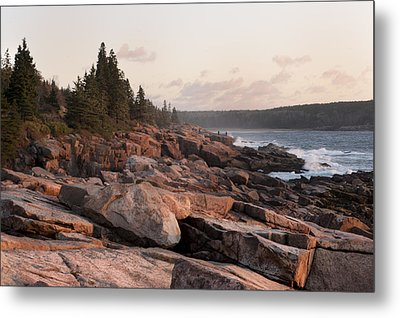 Fall Sunrise In Acadia Metal Print by Phyllis Peterson
