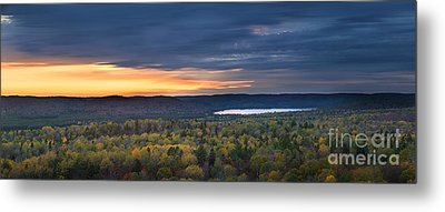 Fall Sunset In Wilderness Metal Print by Elena Elisseeva