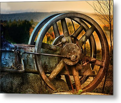 Fall Through The Wheels Metal Print