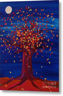 Fall Tree Fantasy By Jrr Metal Print