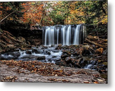 Metal Print featuring the photograph Fall Water by David Stine