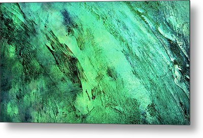 Metal Print featuring the mixed media Fallen by Ally  White