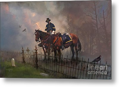 Metal Print featuring the painting Fallen Comrade by Rob Corsetti