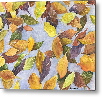 Fallen Leaves Metal Print by Anne Gifford
