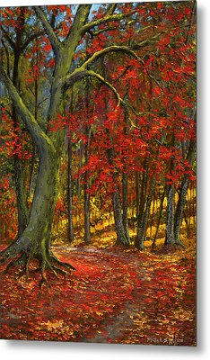 Fallen Leaves Metal Print by Frank Wilson