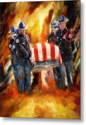 Fallen Officer Metal Print by Christopher Lane