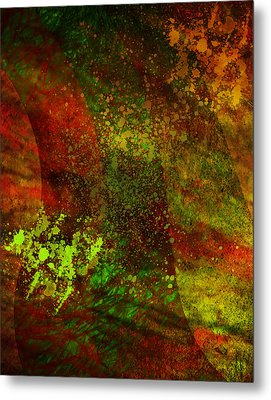 Metal Print featuring the mixed media Fallen Seasons by Ally  White