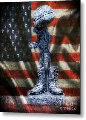 Fallen Soldiers Memorial Metal Print by Peggy Franz