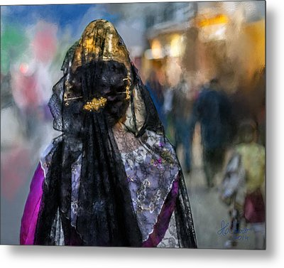 Metal Print featuring the photograph Fallera. Valencia. Spain by Juan Carlos Ferro Duque