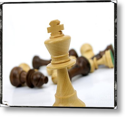 Falling Chess Piece Metal Print by Bernard Jaubert