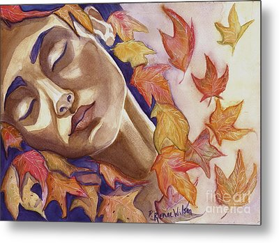 Falling Metal Print by D Renee Wilson
