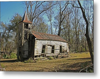 Falling Down Church Metal Print