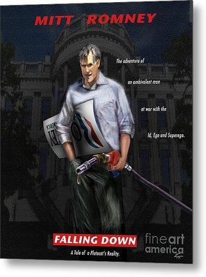 Falling Down Metal Print by Reggie Duffie