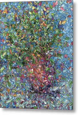 Falling Flowers Metal Print by James W Johnson