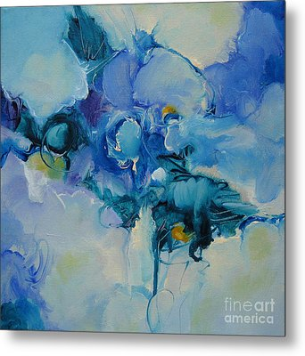 falling into blue I Metal Print