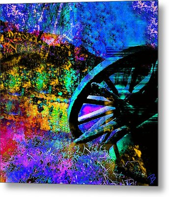 Falling Metal Print by Barbs Popart