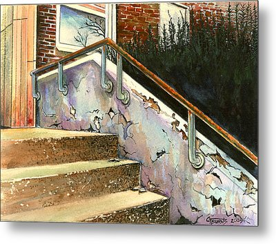 Falling Thru The Cracks  Metal Print by GG Burns