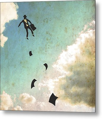 Falling Up Metal Print by Jazzberry Blue
