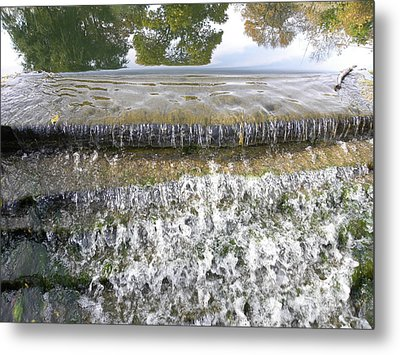 Metal Print featuring the photograph Falling Water by Teresa Schomig