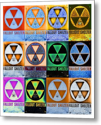 Fallout Shelter Mosaic Metal Print by Stephen Stookey