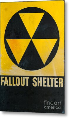 Fallout Shelter Metal Print by Olivier Le Queinec