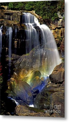 Falls And Rainbow Metal Print by Paul W Faust -  Impressions of Light