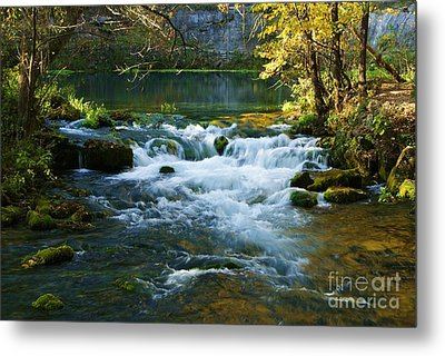 Metal Print featuring the photograph Falls At Alley Spring Mill by Julie Clements