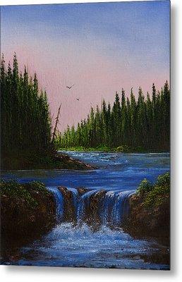 Falls At Rivers Bend Metal Print by C Steele