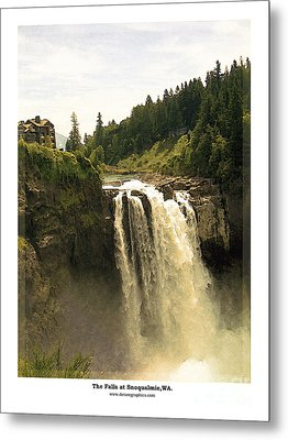 Metal Print featuring the photograph Falls At Snoqualmie by Kenneth De Tore