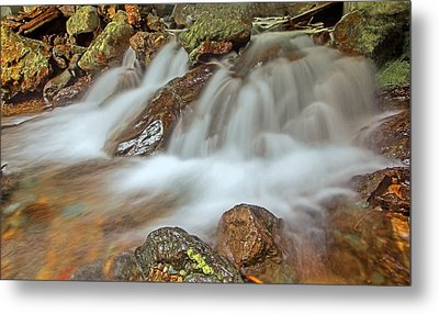 Falls Creek Mount Rainier National Park Metal Print by Bob Noble Photography