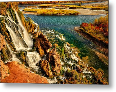 Falls Creek Waterfall Metal Print by Greg Norrell