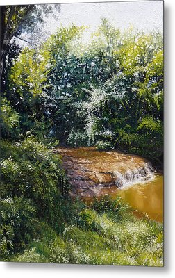 Falls Metal Print by Gregg Hinlicky