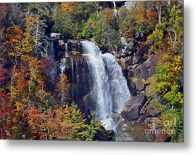 Falls In Fall Metal Print by Lydia Holly